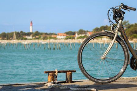 Vélo sur le Bassin d'Arcachon - Photo à la Une