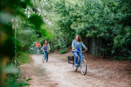 Vélo dans la forêt du Cap Ferret