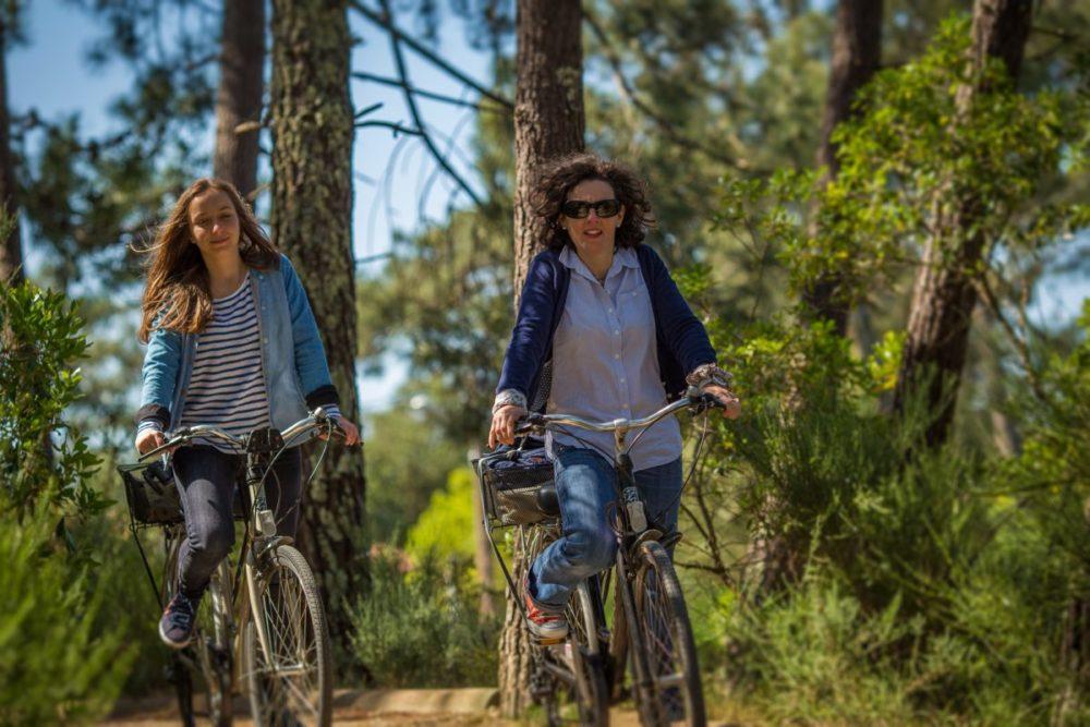 Balade à vélo en forêt sur le Bassin d'Arcachon