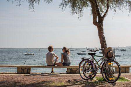 Balade à vélo au bord de l'eau à Lège Cap Ferret