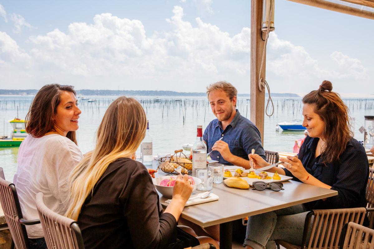 Vue depuis la terrasse du Pinasse Café au Cap Ferret