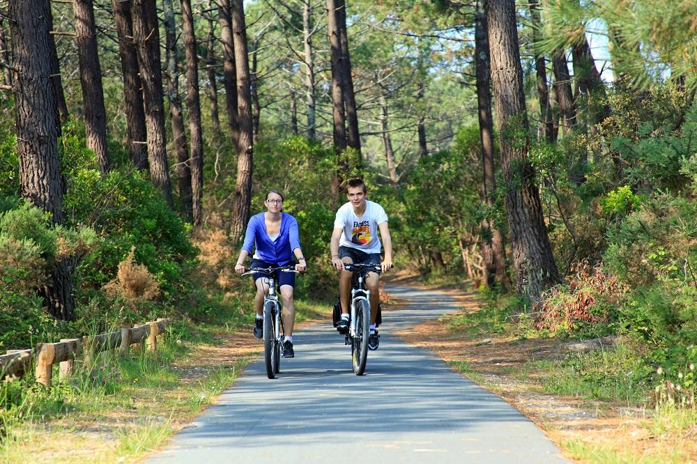 Balade à vélo en forêt au Bassin d'Arcachon - Bassin d'arcachon