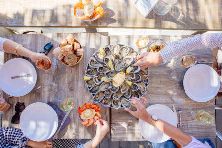 dégustation d'huître sur le bassin d'Arcachon