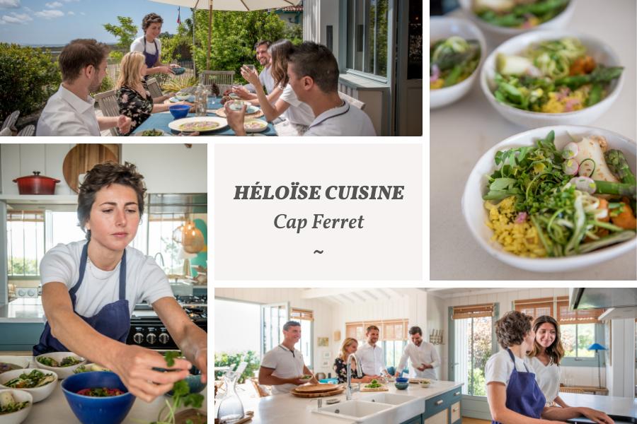 Villa du Cap Ferret avec conciergerie : cheffe à domicile Héloïse Cuisine