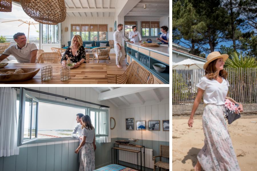 Villa du Cap Ferret avec conciergerie : visite