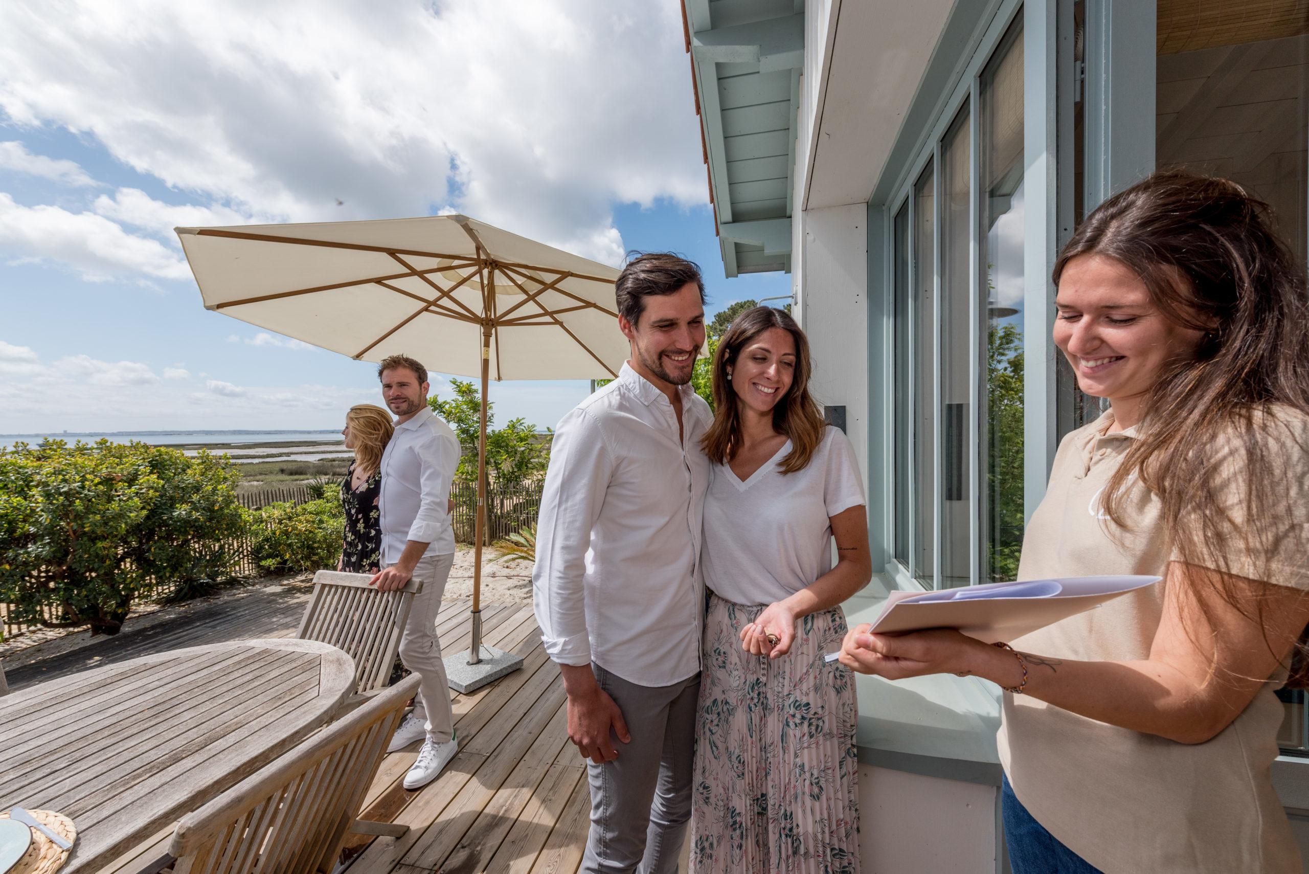 Villa du Cap Ferret avec conciergerie : accueil CL